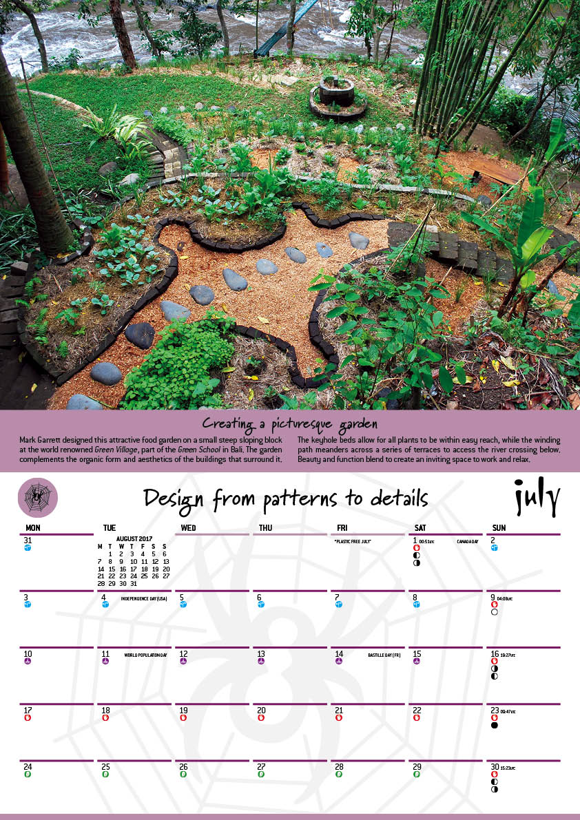 2017 Permaculture Calendar With Moon Planting Guide